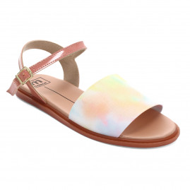 Sandália Feminina Moleca 5450 100 Verniz Fresh 21288 - 34 ao 39 - Atacado - Multi Color/Light Blush
