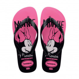 Chinelo Infantil Havaianas Kids Top Disney - 23 ao 32 - Atacado - Rosa Flux