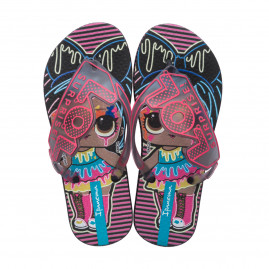 Chinelo Infantil LOL Surprise Shine I - 26573 - 23 ao 32 - Atacado - Preto/Fume/Rosa